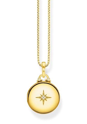 THOMAS SABO Kette mit Anhänger »D_KE0036 - 924 - 14 - L45v, Medaillon gold rund« kaufen