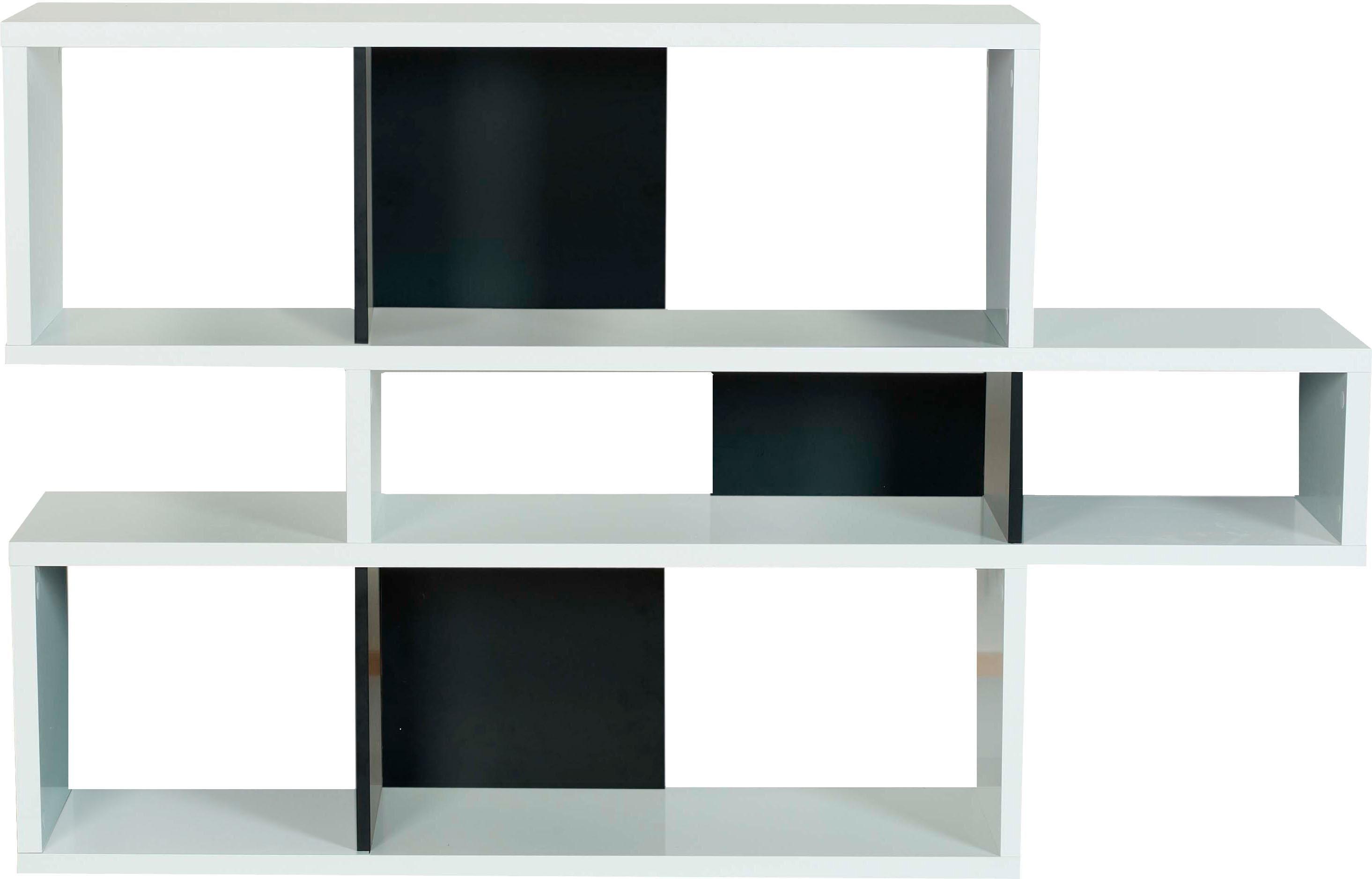 andas Regal  London  in 3 unterschiedlichen Farben und, Höhen, mit dekorativer Rahmenoptik Preisvergleich