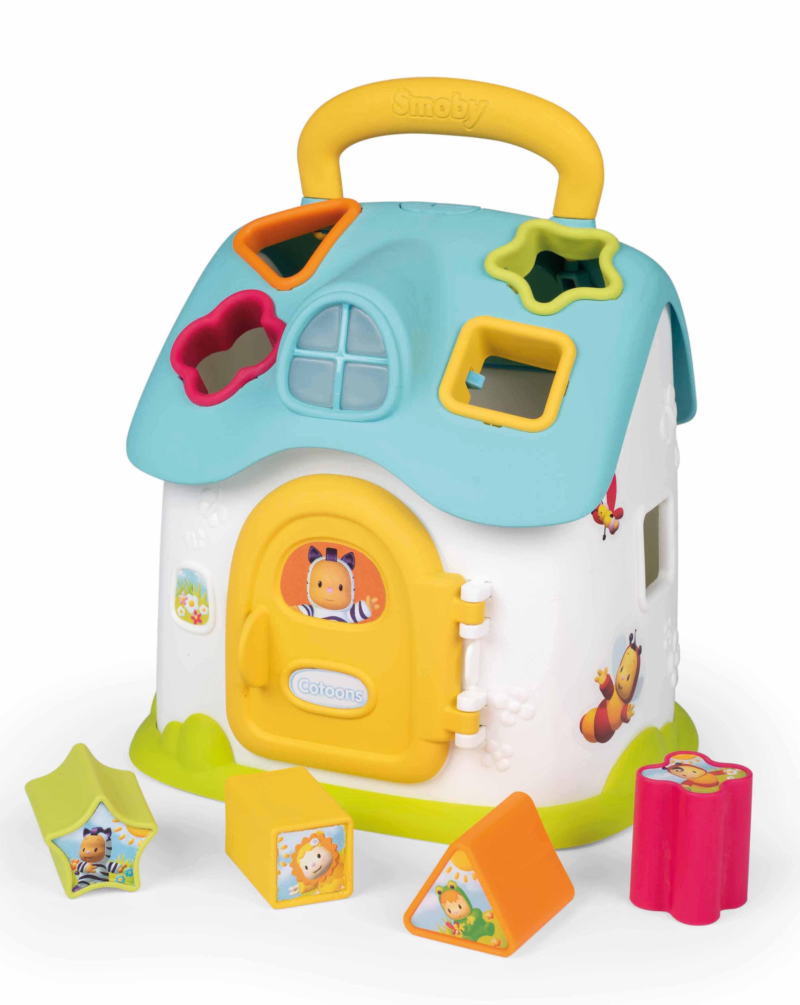 Smoby Steckspielzeug Cotoons Elektronisches Steckspielhaus bunt Kinder Steck- Stapelspielzeug Baby Kleinkind