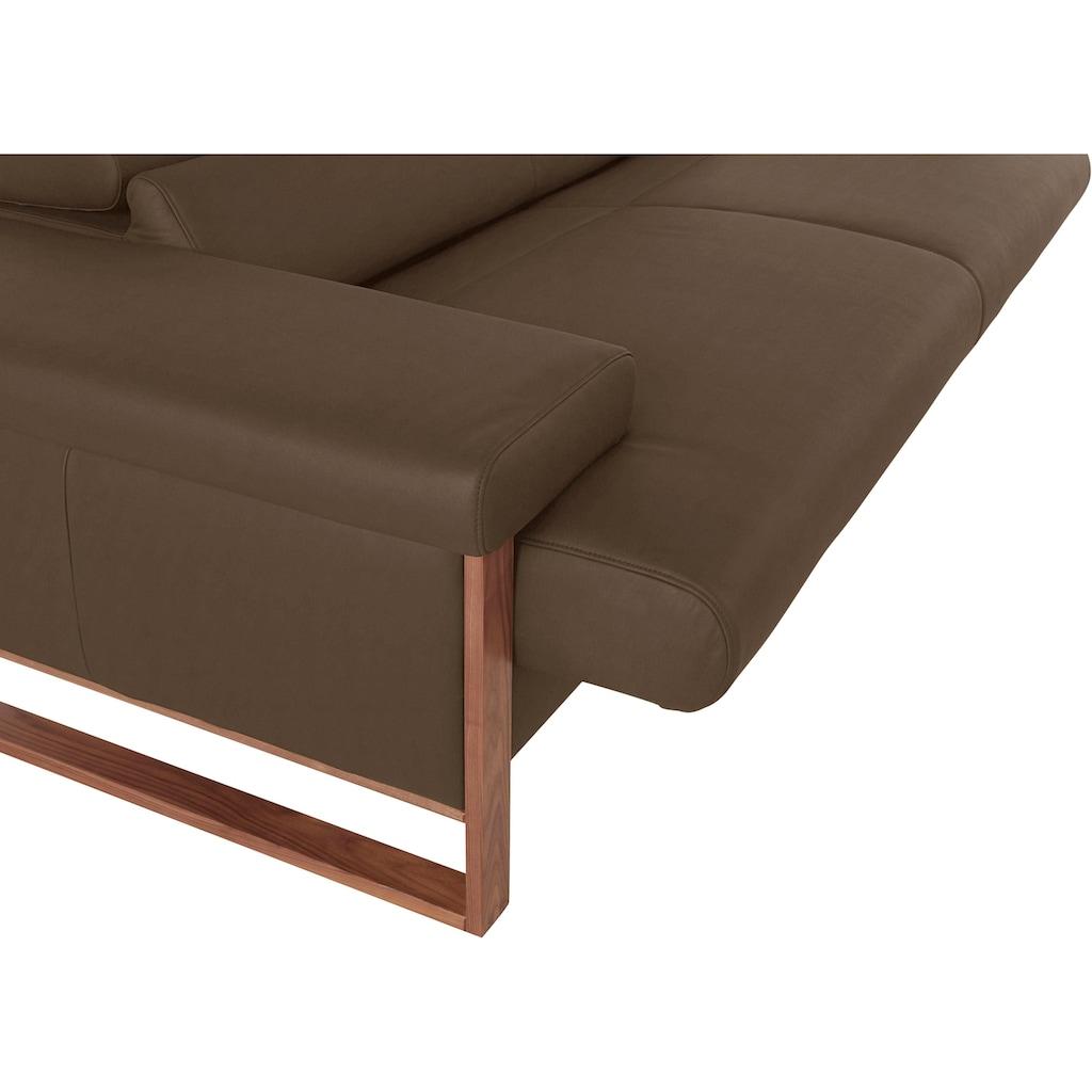 W.SCHILLIG 2-Sitzer »finn«, German Design Award 2016, Fußgestell Nussbaum natur, Breite 210 cm