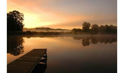 Papermoon Fototapete »Morgenstille am See«, Vliestapete, hochwertiger Digitaldruck kaufen