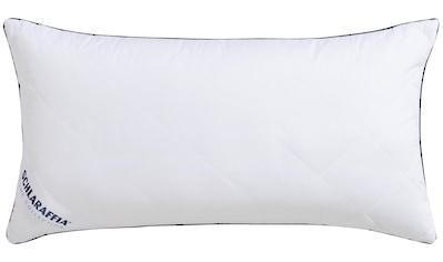 Schlaraffia Microfaserkissen »Relax«, Bezug: 100% Baumwolle, (1 St.), insbesondere für hygienebewusste Schläfer geeignet kaufen
