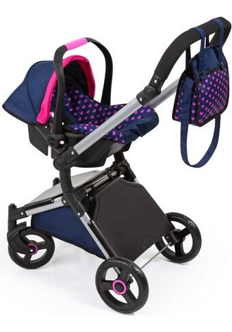 Bayer Puppenwagen »City Cruiser, blau«, mit Wickeltasche kaufen