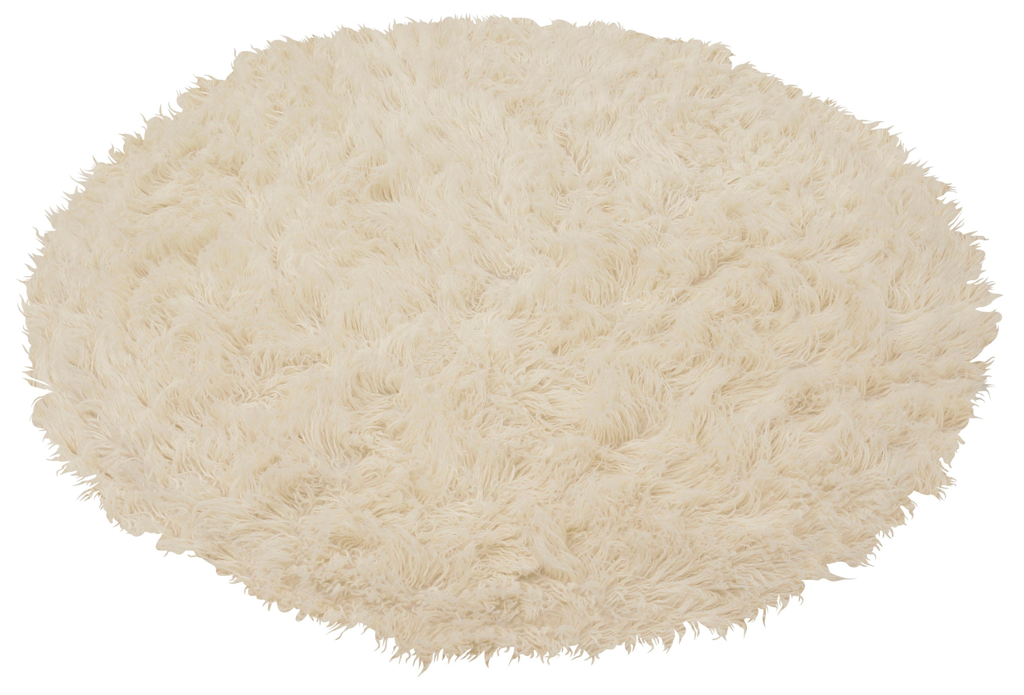 Teppich Flokati 1500 g Böing Carpet rund Höhe 60 mm