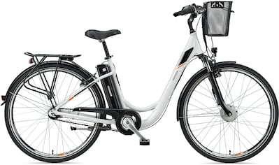 Telefunken E-Bike »Multitalent RC840«, 7 Gang, Shimano, Nexus, Frontmotor 250 W, mit Fahrradkorb kaufen