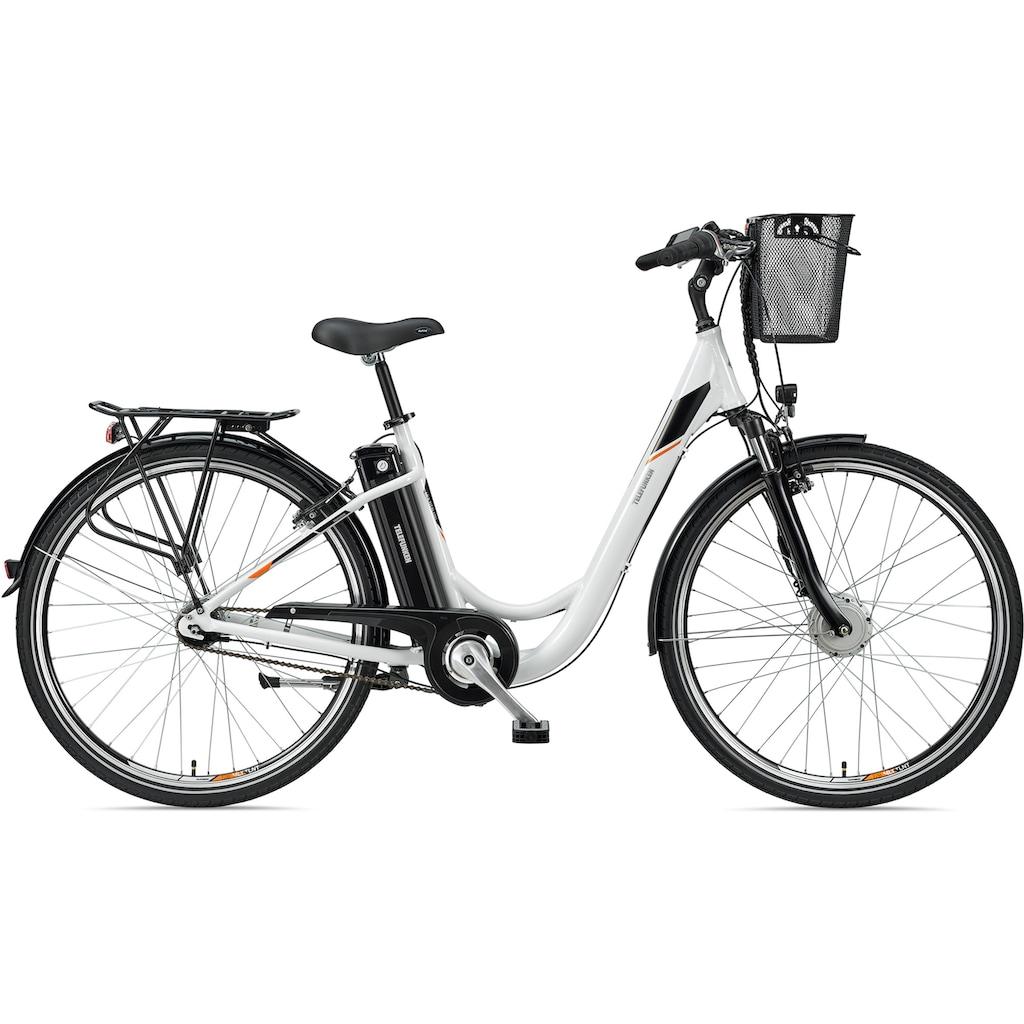 Telefunken E-Bike »Multitalent RC840«, 7 Gang, Shimano, Nexus, Frontmotor 250 W, mit Fahrradkorb