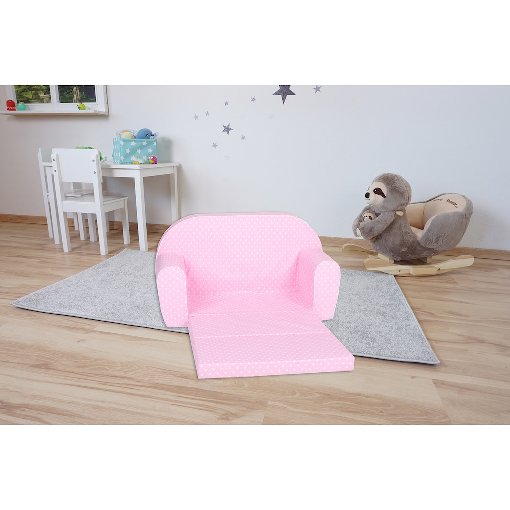 Knorrtoys® Sofa »Pink white dots«, für Kinder; Made in Europe