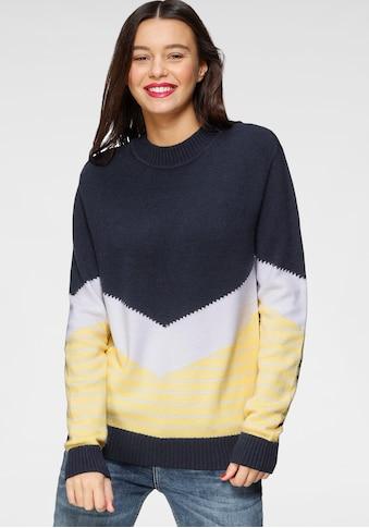 AJC Rundhalspullover, im Colorblocking mit Ringelstreifen kaufen