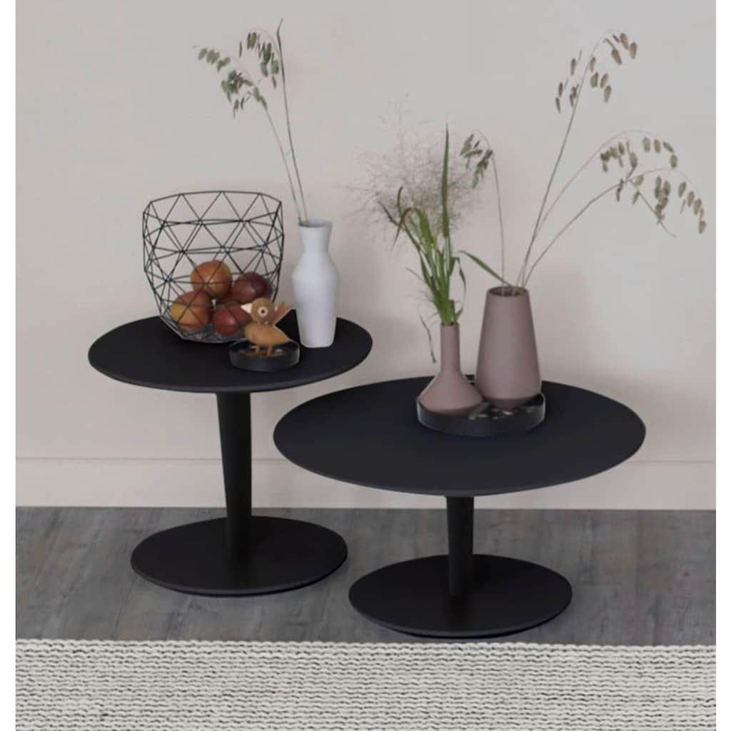 SCHÖNER WOHNEN-Kollektion Couchtisch »DIMARO«, in runder Form, Höhe 45 cm, Füße Holz Lack schwarz