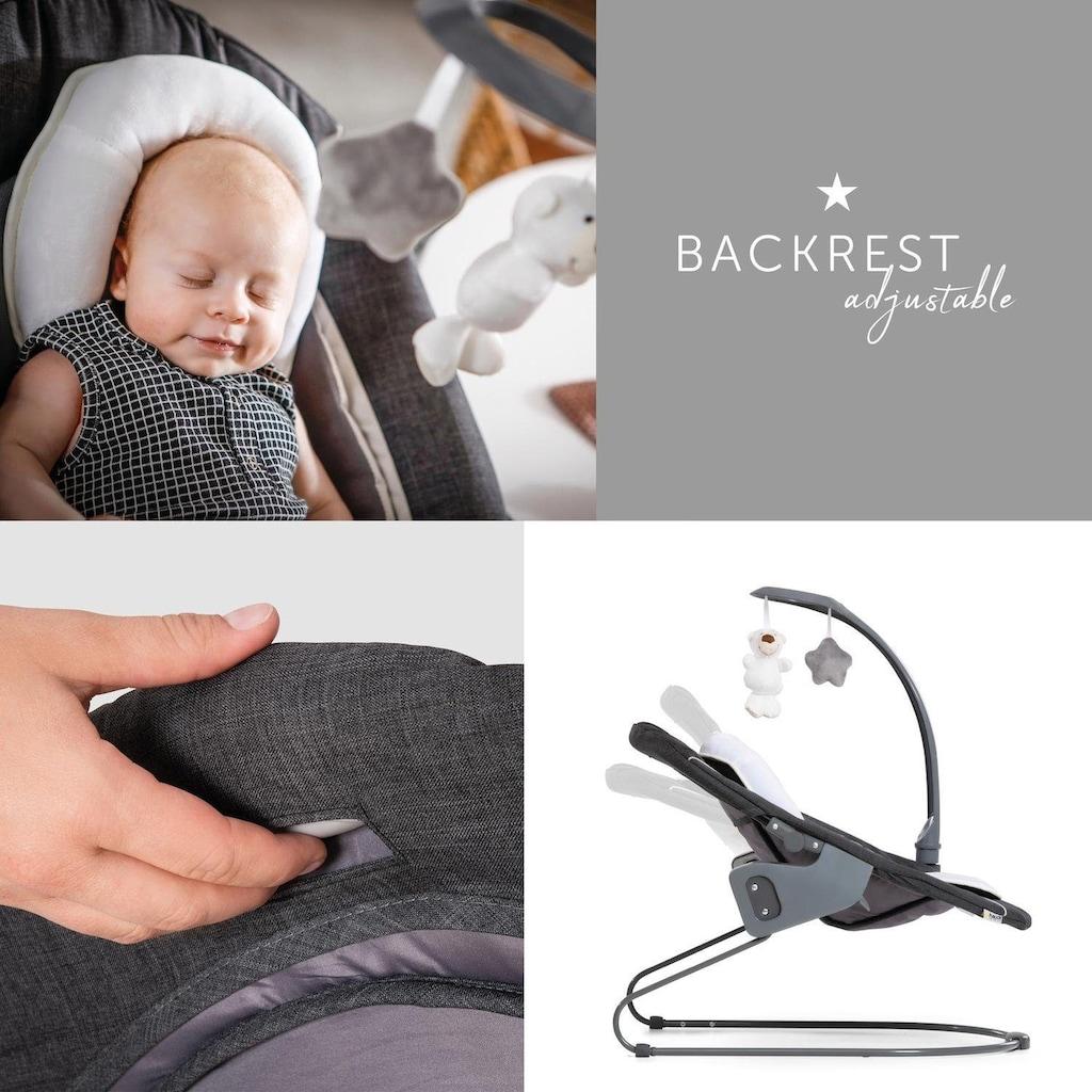 Hauck Hochstuhlaufsatz »Alpha Bouncer Deluxe - Melange grey« bis, 9 kg, für Neugeborene