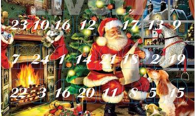 Krebs Glas Lauscha Adventskalender »Santa im Haus«, mit Weihnachtsbaumschmuck kaufen