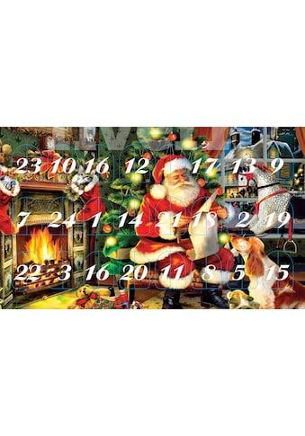 "Krebs Glas Lauscha Adventskalender ""Santa im Haus"" Set, (24 - tlg.) kaufen"