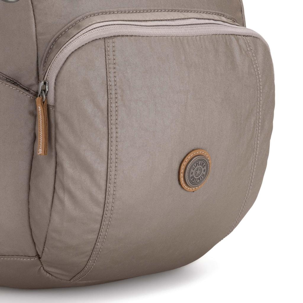 KIPLING Laptoprucksack »Troy Extra, Fungi Metal«, mit abnehmbarer Brusttasche