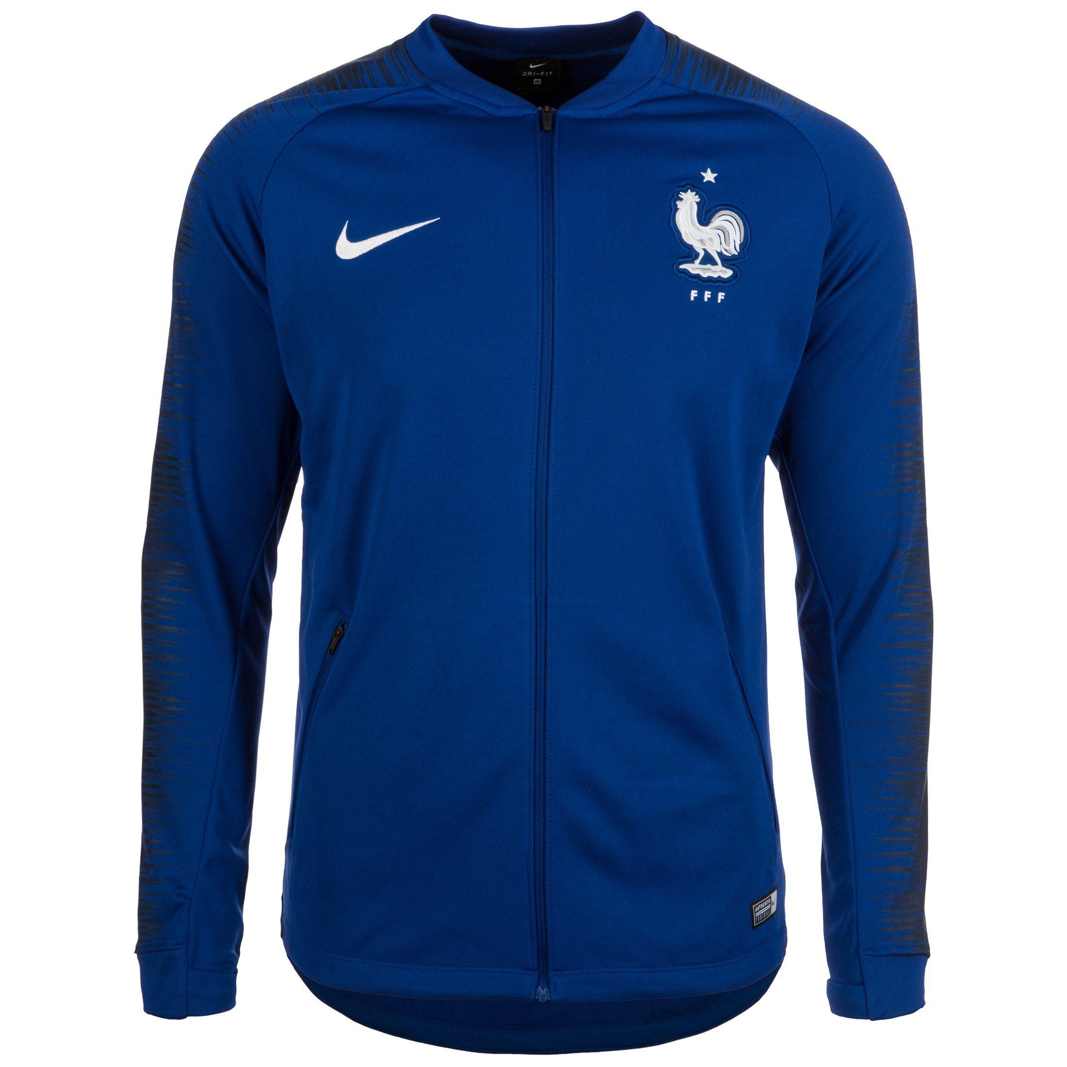 Nike Trainingsjacke »Frankreich Anthem Wm 2018«   Sportbekleidung > Sportjacken > Trainingsjacken   Blau   Wm   NIKE
