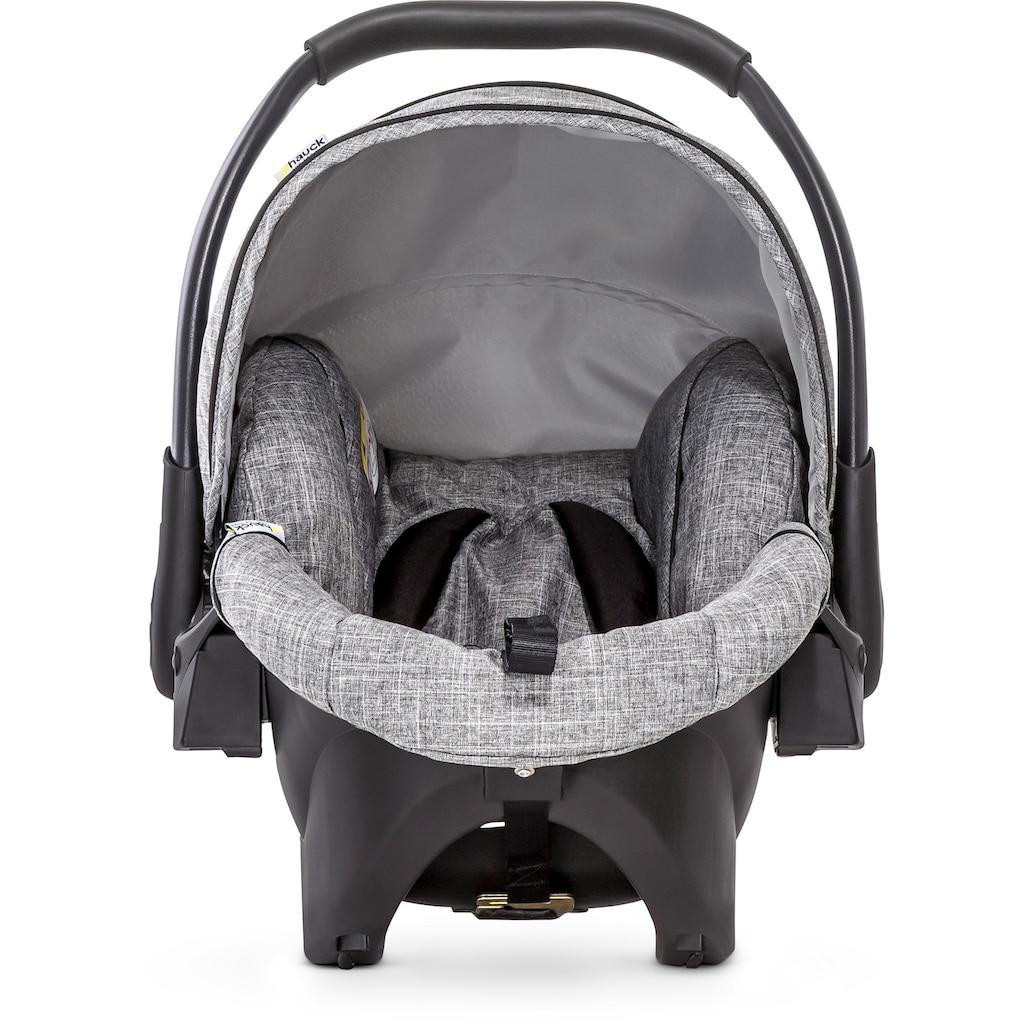 Hauck Kombi-Kinderwagen »Malibu 4 Trio Set, Melange/Grey«, mit Babyschale; Kinderwagen