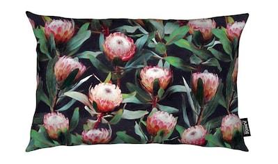 Juniqe Dekokissen »Evening Proteas in Color«, Weiches, allergikerfreundliches Material kaufen