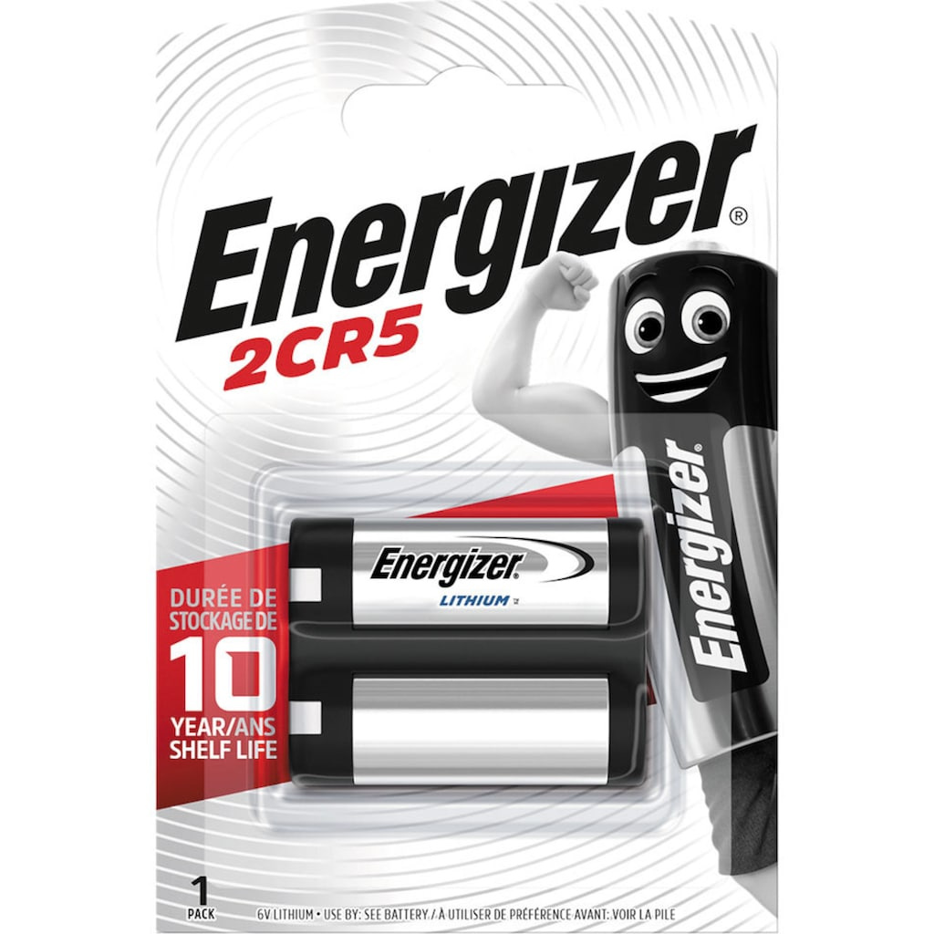 Energizer Batterie »Lithium Foto 2CR5 1 Stück«, 6 V
