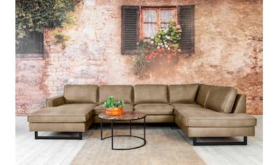 Places of Style Wohnlandschaft »Pinto«, mit Keder und Metallfüßen. Auch mit Cord oder... kaufen