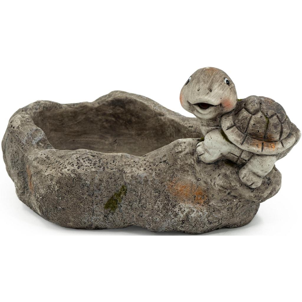 NOOR LIVING Gartenfigur »Pflanzschale mit Schildkröte«, (1 St.)