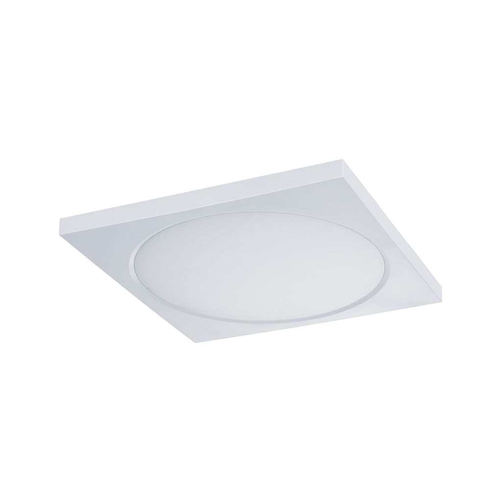 Paulmann LED Einbaustrahler »Panel Dimmbar Badleuchte Weiß eckig 9W«, 1 St., Neutralweiß