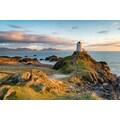 Papermoon Fototapete »Sonnenuntergang bei Ynys Llanddwyn«, Vliestapete, hochwertiger Digitaldruck