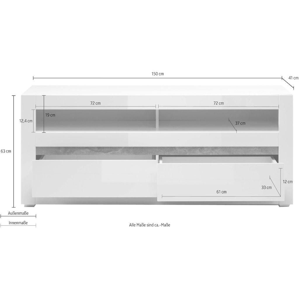 INOSIGN Lowboard »Carat«, Breite 150 cm