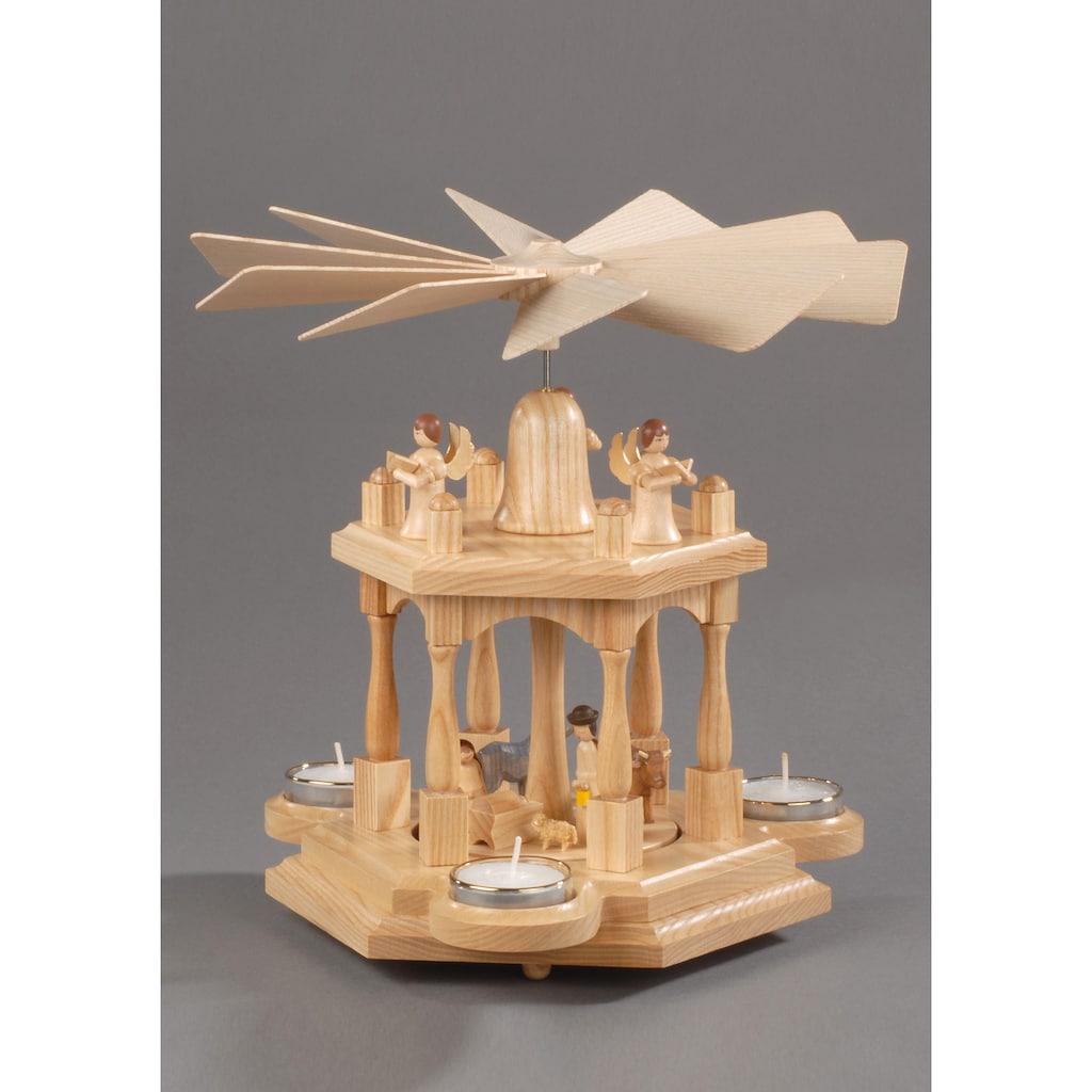 Albin Preissler Weihnachtspyramide »Christi Geburt«, 2 Etagen, Made in Germany