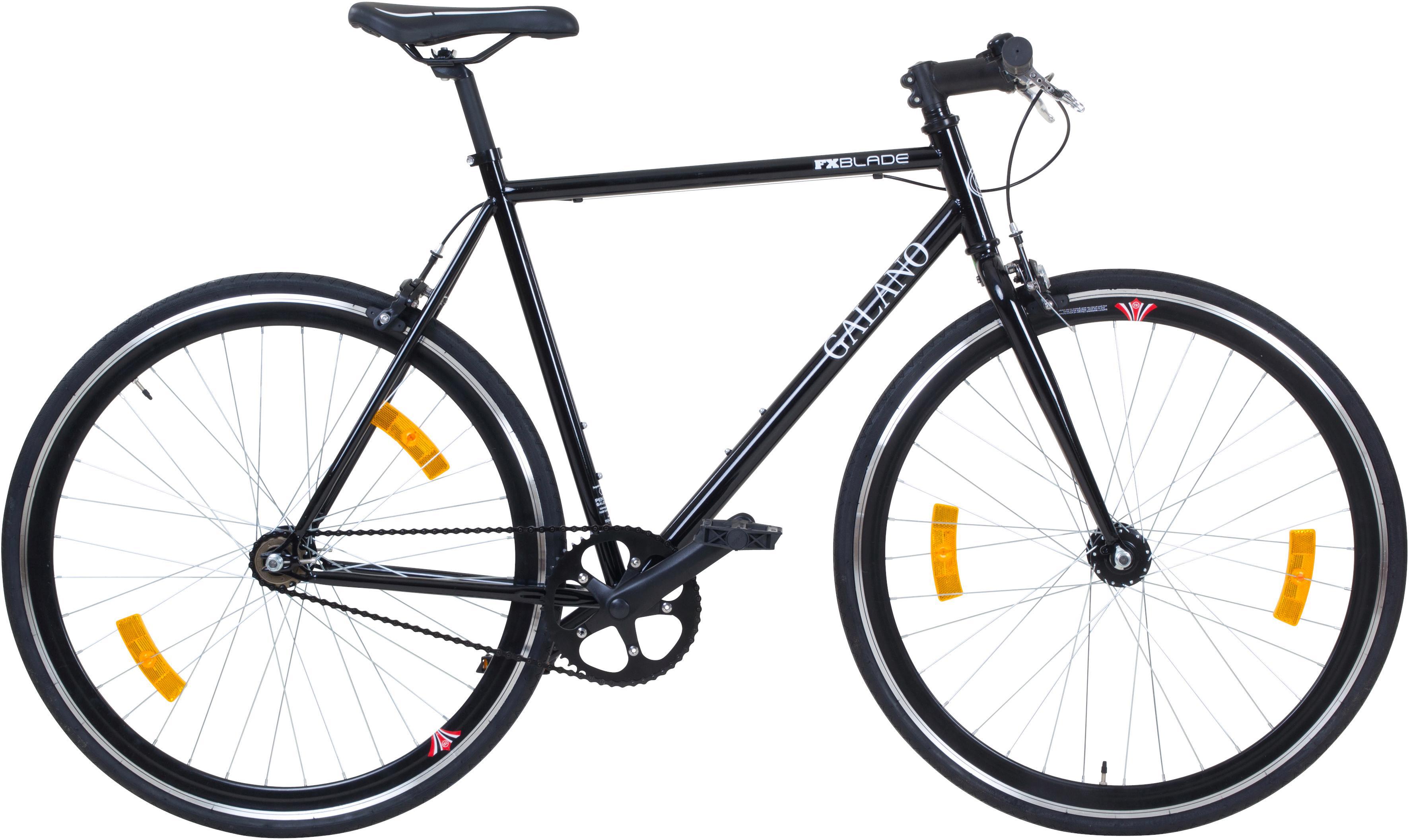 Galano Singlespeed Blade, 1 Gang schwarz Fahrräder Zubehör Fahrrad