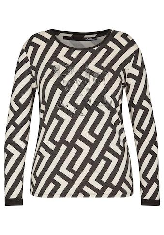 LeComte 3/4-Arm-Shirt, mit Allover-Muster und Ziersteinchen kaufen