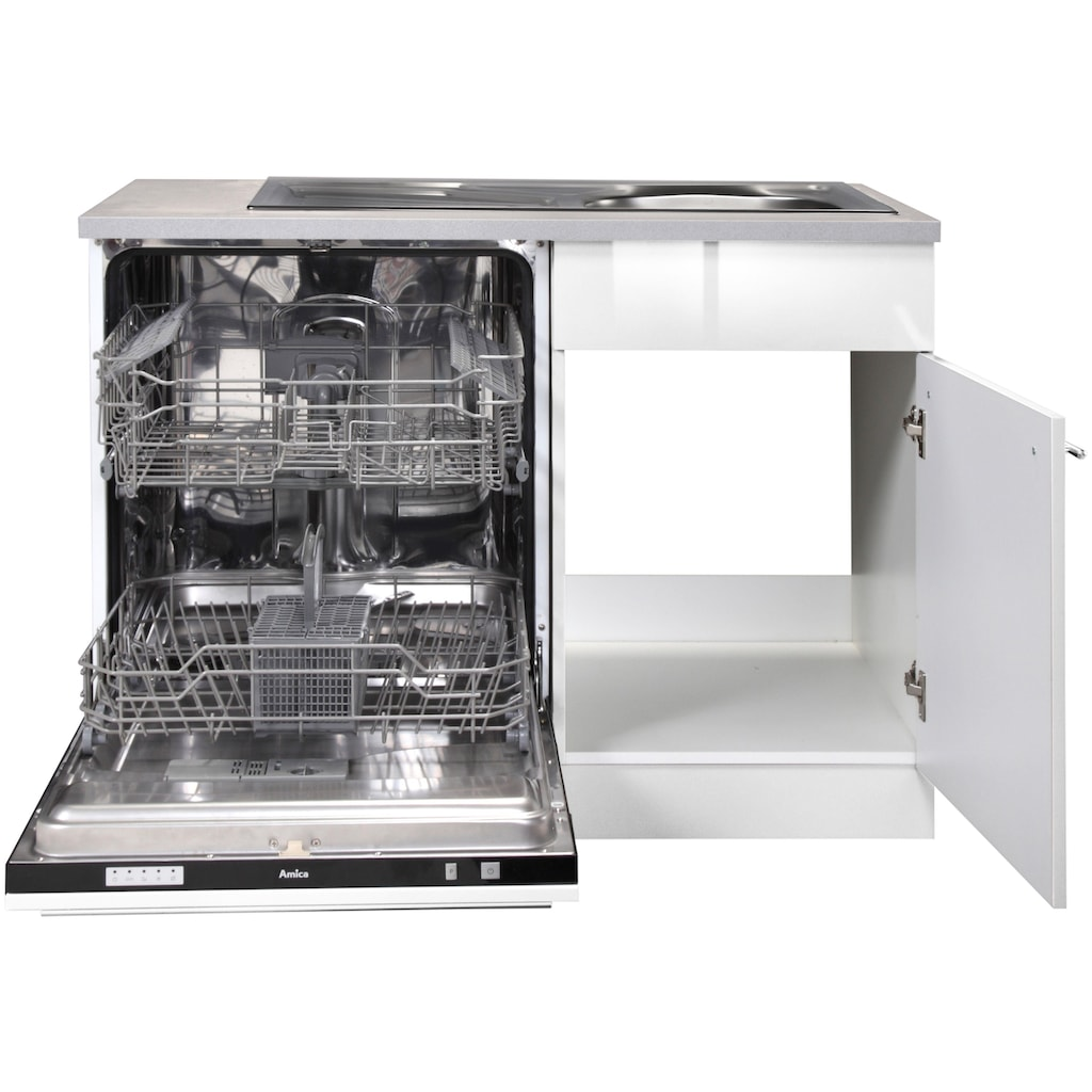 wiho Küchen Spülenschrank »Chicago«, 110 cm breit, inkl. Tür/Sockel für Geschirrspüler