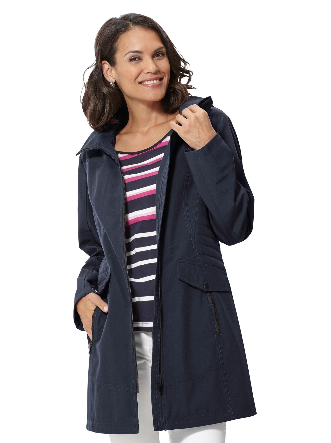 Casual Looks Softshelljacke mit figurformenden Nähte | Bekleidung > Jacken > Softshelljacken | Blau | Casual Looks