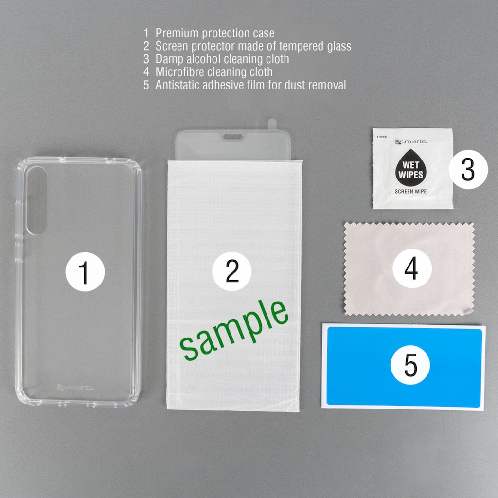 4smarts Handyhülle »360° Premium Protection Set Samsung Galaxy A51«, Cover