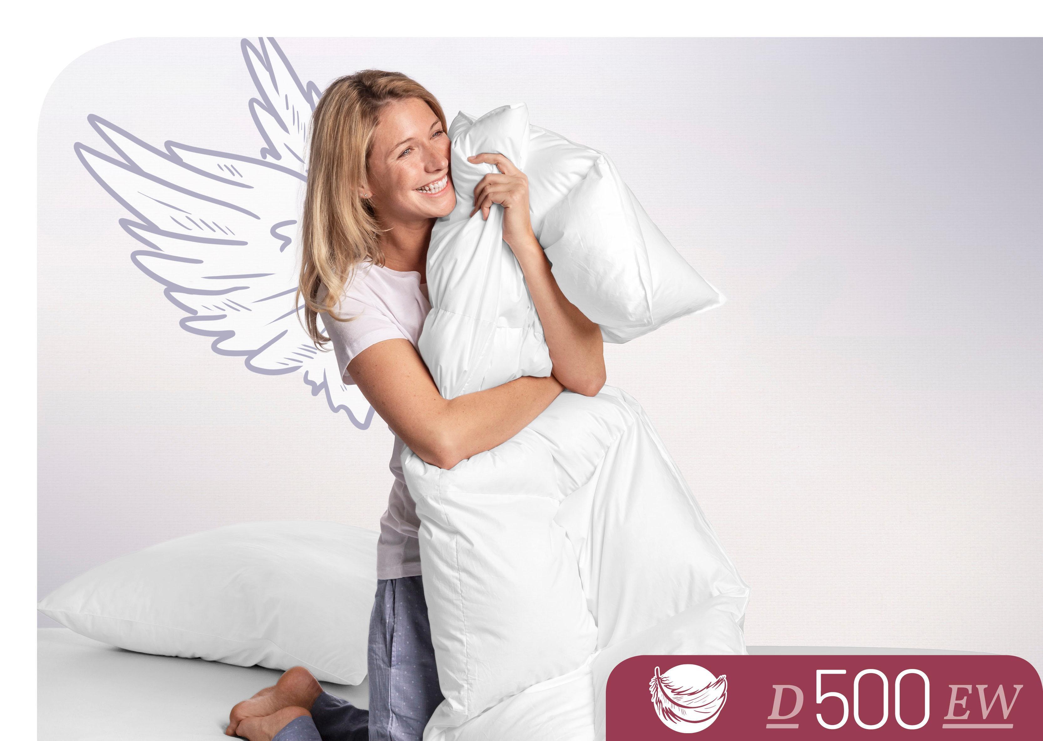 Daunenbettdecke D500 Schlafstil extrawarm Füllung: 100% Daunen Bezug: 100% Baumwolle