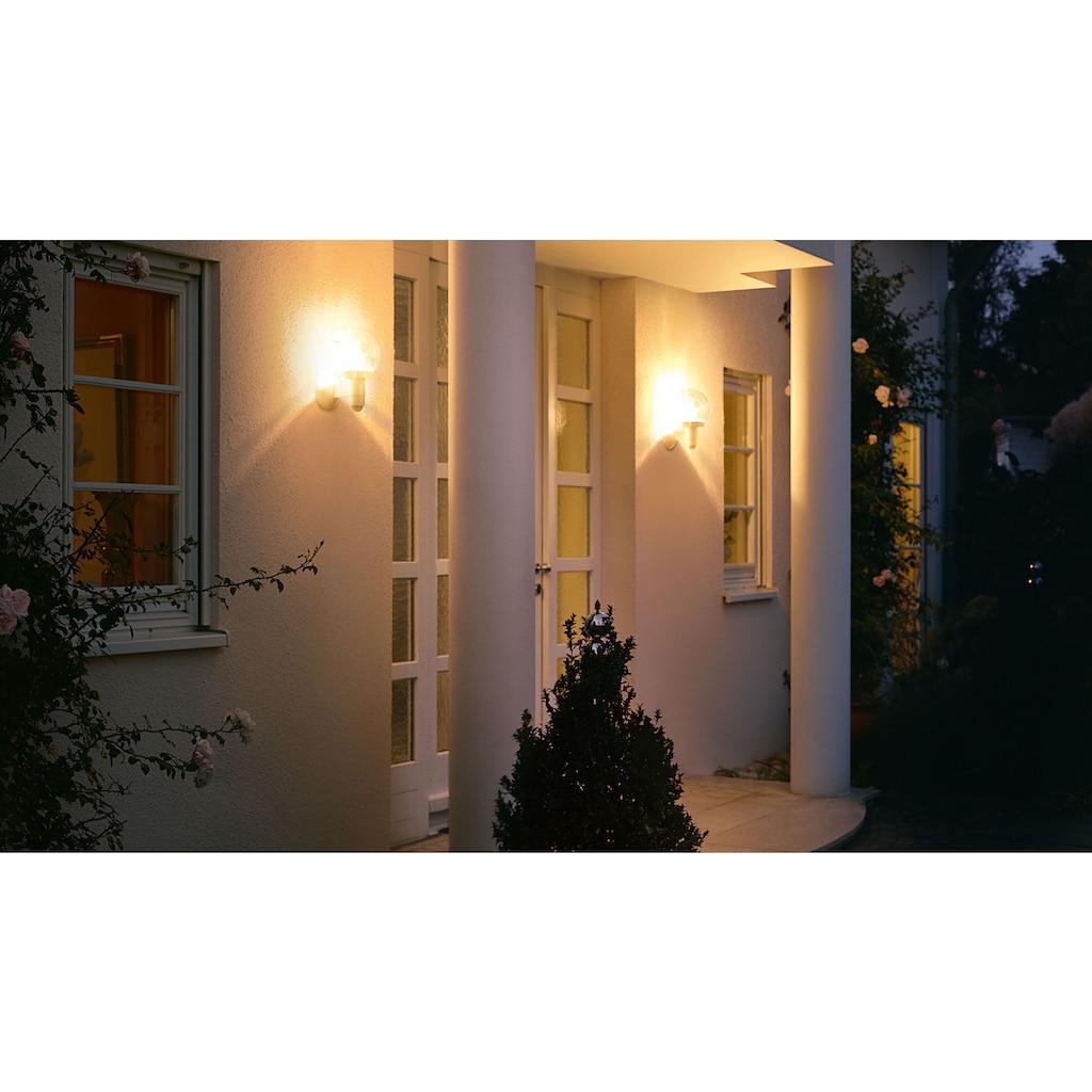 steinel Außen-Wandleuchte »L 115 S«, E27, 1 St., 240° Erfassungsbereich, max. 12 m Reichweite, Zeiteinstellung von 5 Sek. - 15 Min., Grundlichtfunktion, 4h Dauerlicht, Softlichtstart, regenwassergeschützt