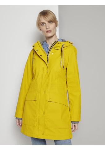 TOM TAILOR Regenjacke »Beschichtete Regenjacke mit Kapuze« kaufen