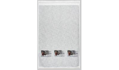 Gardine, »Weihnachtsmann«, HOSSNER  -  ART OF HOME DECO, Stangendurchzug 1 Stück kaufen