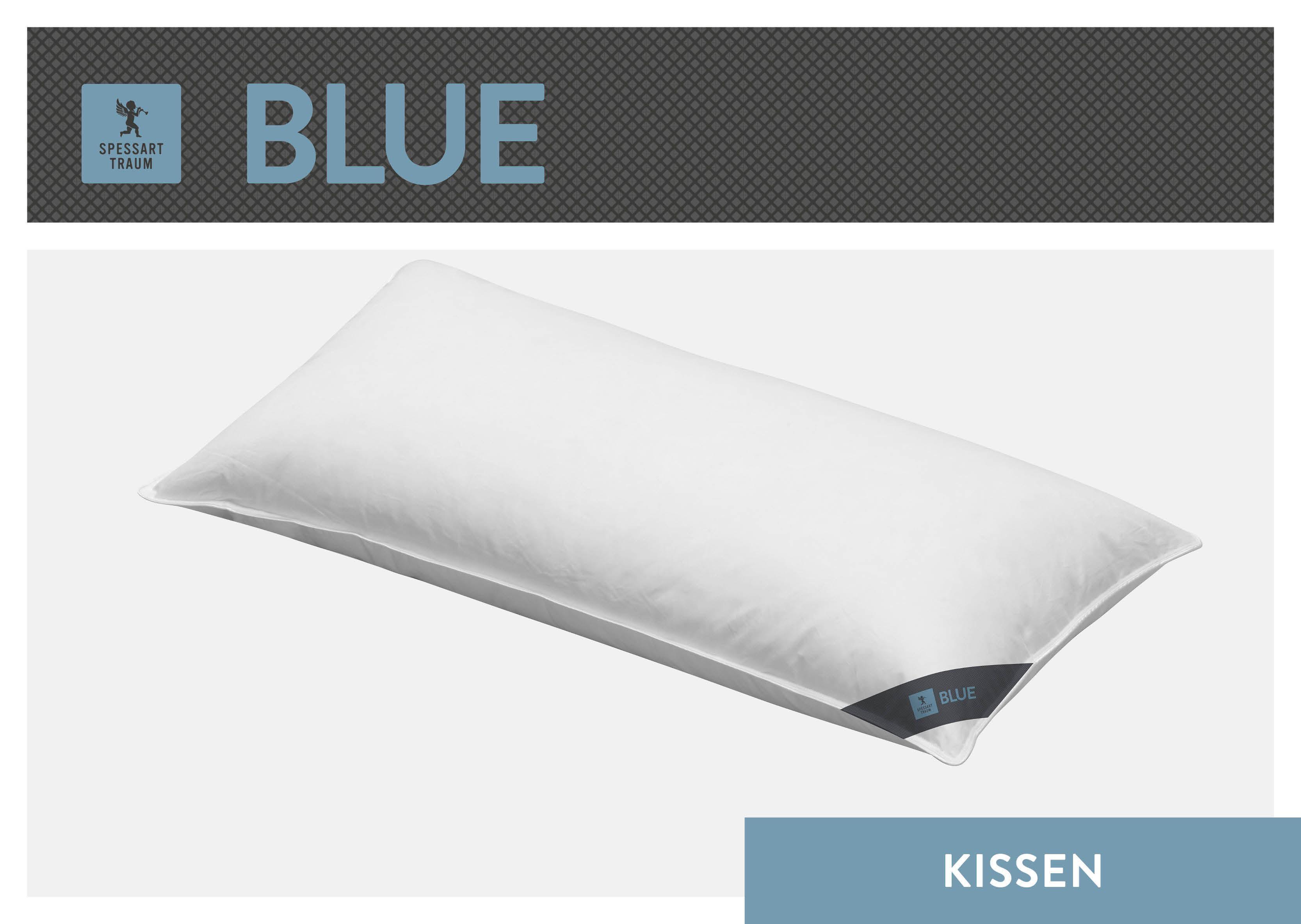 3-Kammer-Kopfkissen Blue SPESSARTTRAUM Füllung: Außen: 60% Daunen40% Federn; Innen: 100% Federn Bezug: 100% Baumwolle