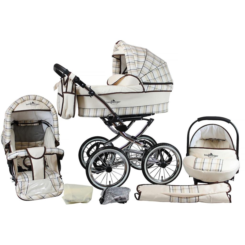 bergsteiger Kombi-Kinderwagen »Venedig, classic beige, 3in1«, 15 kg, Made in Europe; Kinderwagen