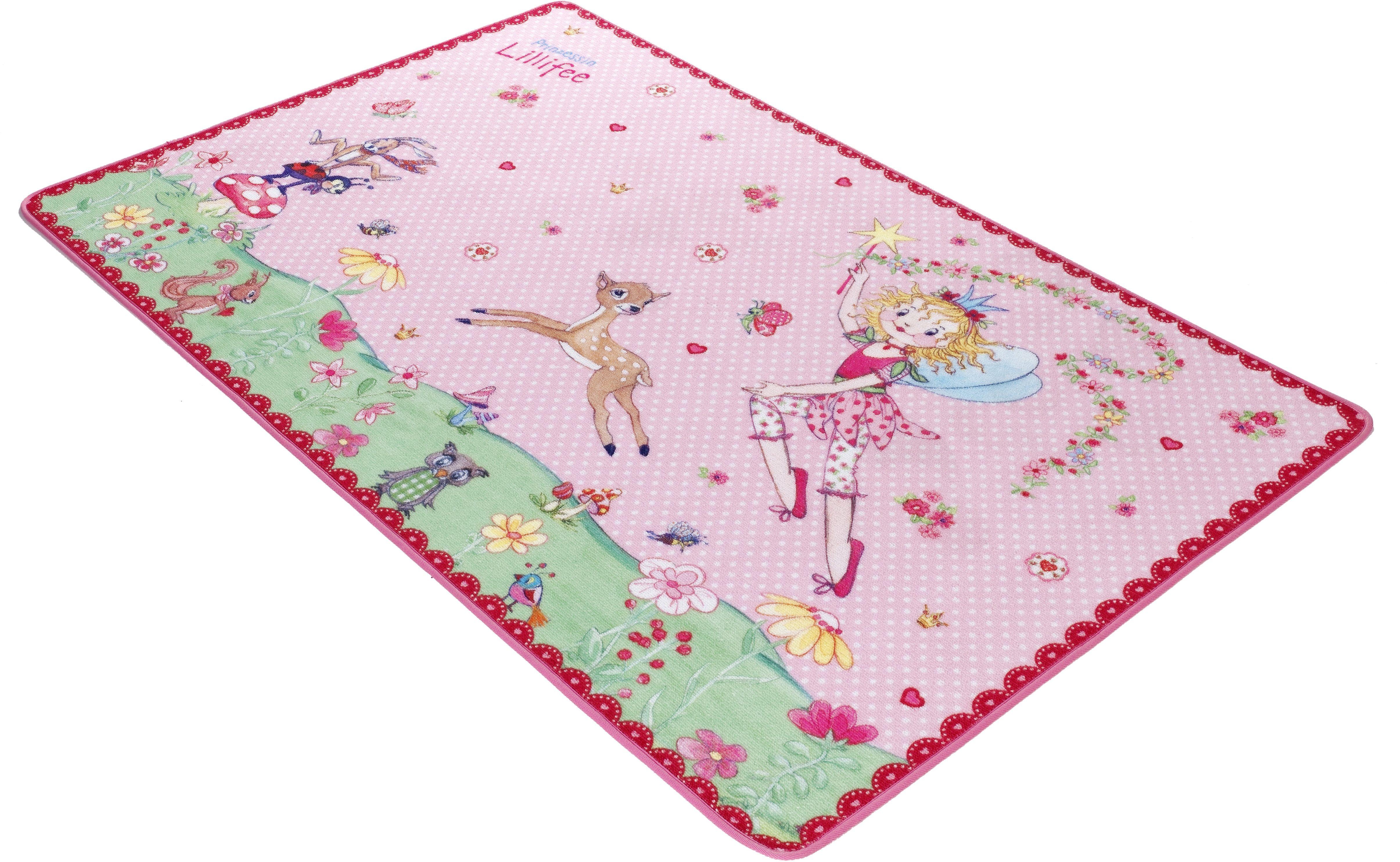 Kinderteppich LI-101 Prinzessin Lillifee rechteckig Höhe 2 mm