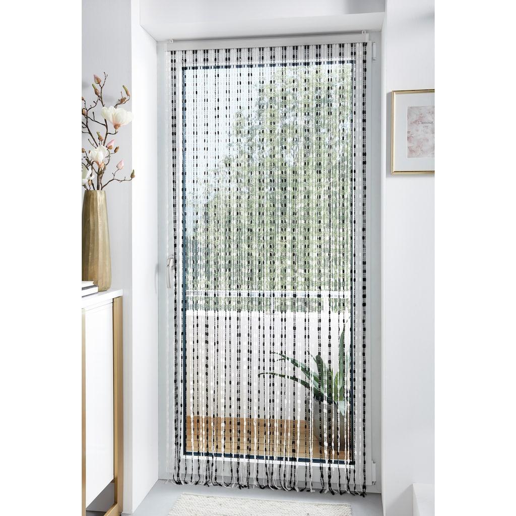 locker Türvorhang »Pearl«, Kunststoff, transparent/schwarz, 72 Stränge
