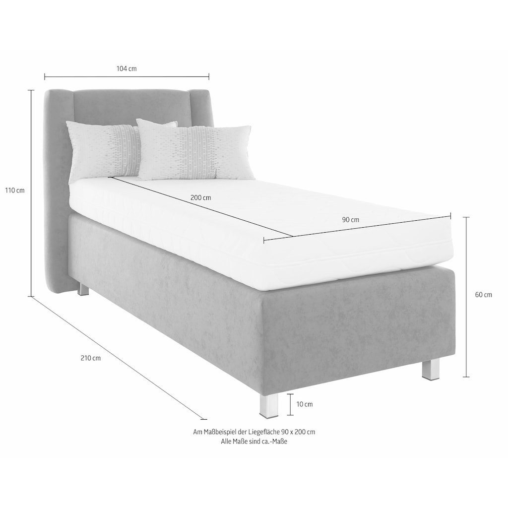 Westfalia Schlafkomfort Boxspringbett, inkl. Zierkissen