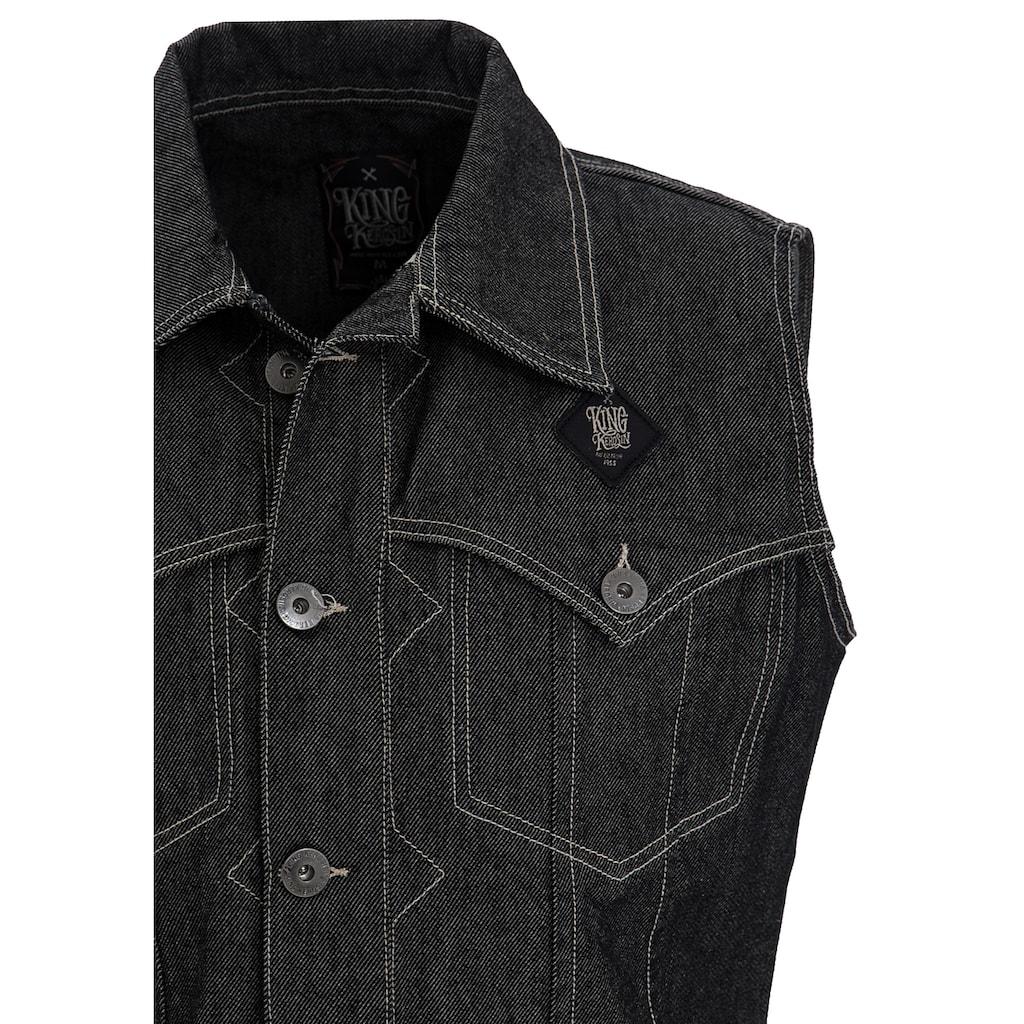 KingKerosin Jeansweste »Jinete de la Muerte«, im Western-Stil