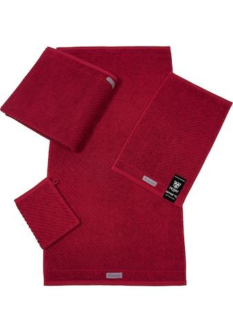 ROSS Waschhandschuh »Smart«, (6 tlg.), Uni-Rippe mit Velourslabel kaufen