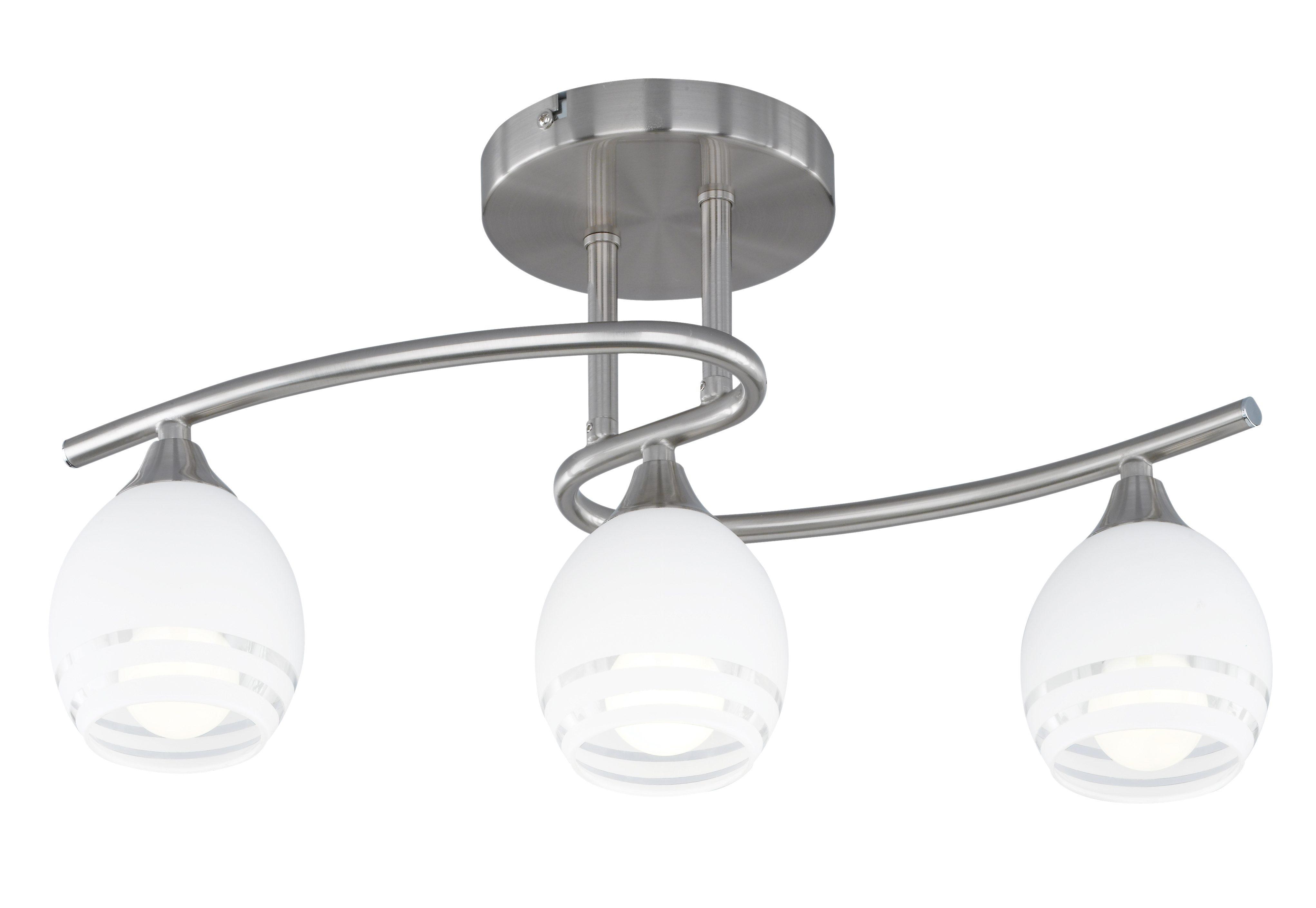 TRIO Leuchten Deckenleuchte Curva, E14, Deckenlampe, Leuchtmittel tauschbar