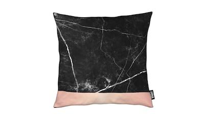 Juniqe Dekokissen »Black Marble Pink Edition«, Weiches, allergikerfreundliches Material kaufen