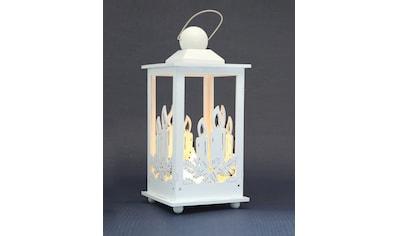 HGD Holz - Glas - Design Deko - Laterne mit LED - Kerze kaufen