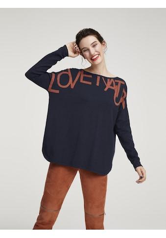 Pullover mit Schriftzug kaufen