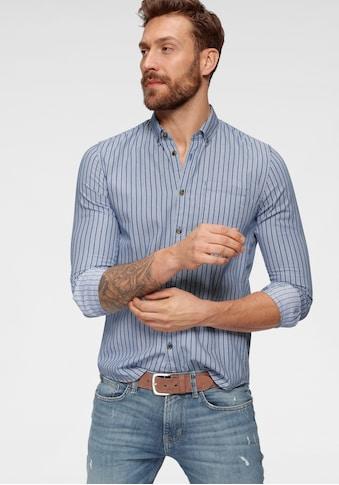 TOM TAILOR Denim Langarmhemd, gestreift kaufen