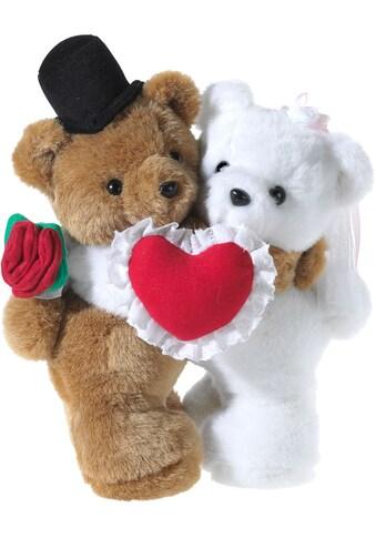 Heunec® Plüschfigur »Bären-Hochzeitspaar mit Herz«, mit individueller Bestickung kaufen