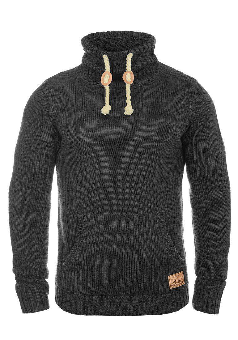 Solid Strickpullover Paras   Bekleidung > Pullover > Sonstige Pullover   Grau   Solid